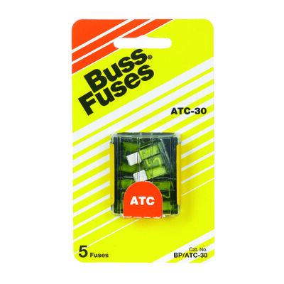 Bussmann 30 amps ATC Automotive Blade Fuse 5 pk