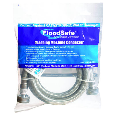 Floodsafe 3/4 in. Hose x 3/4 in. Dia. Hose Stainless Steel 60 in. Supply Line