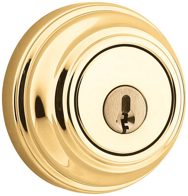 Weiser Polished Brass Single Cylinder Smart Key Deadbolt 1-3/4 in. For All Standard Doors Key: K4