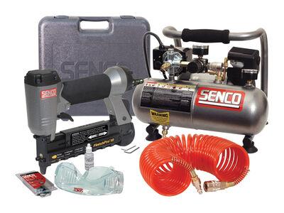Senco FinishPro 18 Pneumatic Brad Finish Nailer & Compressor Kit 18 Ga.