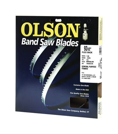 Olson 93.5 in. L x 0.1 in. W Carbon Steel Band Saw Blade
