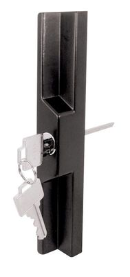 Prime-Line Pull and Keyed Locking Unit 3-15/16 in. 5.6 in. x 5.6 in. x 0.6 in. Black Die-Cast 1/Card