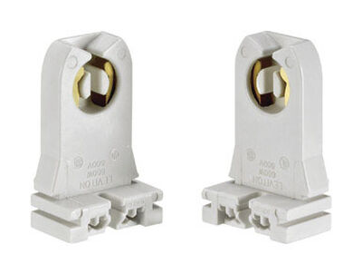 Leviton Fluorescent Socket 600 volts 660 watts White