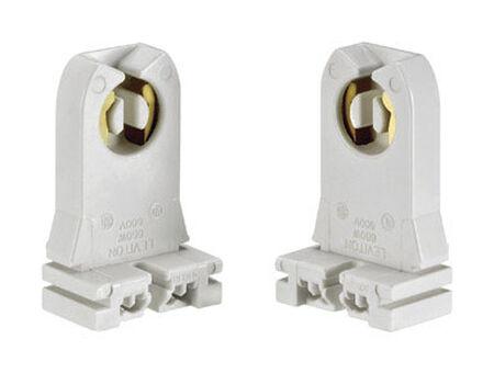 Leviton Fluorescent Socket 600 volts 660 watts White
