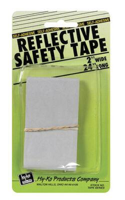 "Hy-Ko Safety Tape 2"" X 24"" Silver"