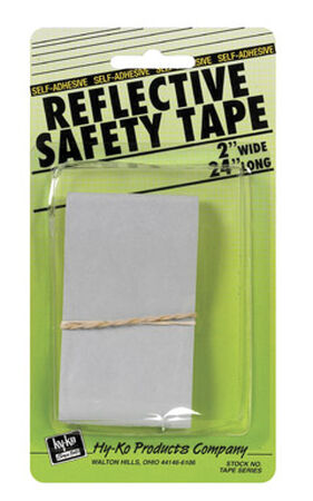 "Hy-Ko Safety Tape 2"" X 24"" Silver"