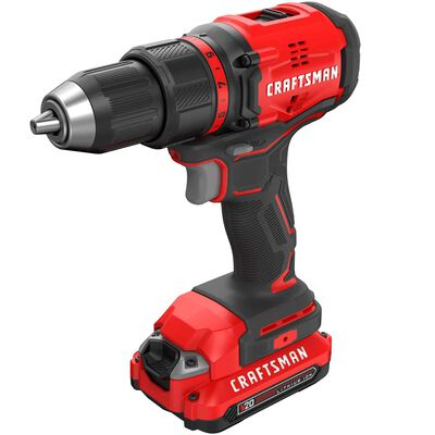 Craftsman 20V MAX 20 volt Cordless Compact Drill/Driver Brushless Kit 1900 rpm 1/2 in.