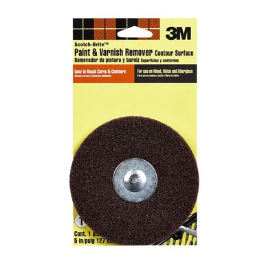 Scotch-Brite 5 in. Dia. x 1/4 in. Paint and Varnish Remover Aluminum Oxide 1 pk