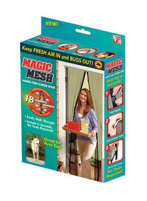 Magic Mesh As Seen On TV Hands-Free Magnetic Screen Door 1 pk