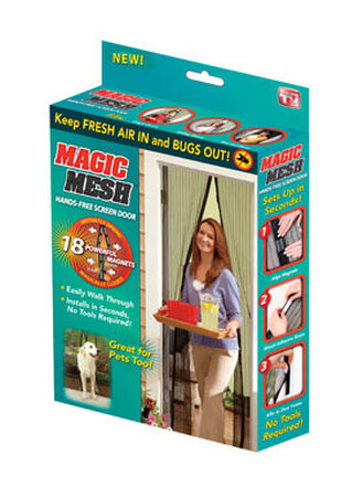 Magic Mesh As Seen On TV Hands-Free Magnetic Screen Door 1 pk