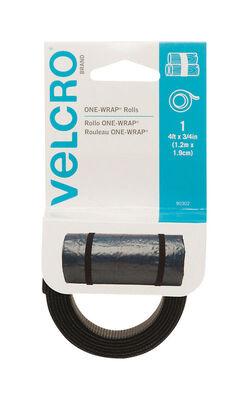 Velcro 4 in. L x 3/4 in. W Hook and Loop Fastener 1 pk