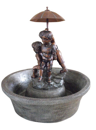 Southern Patio Resin and Fiberglass Boy and Girl Fountain