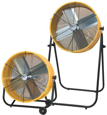 "Barrel Fan 24"" 2 easy adjustable positions"
