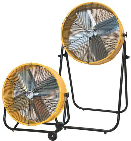 "Barrel Fan 24"" 2 easy adjustable positions"