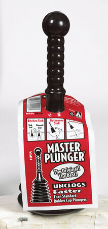 Master Toilet Plunger 4 in. L x 4 in. Dia.
