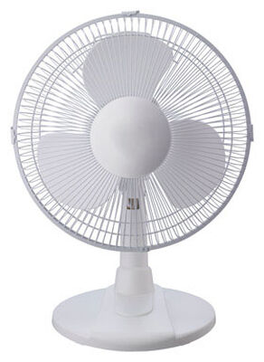 Pelonis Table Fan 12 in. H x 12 in. Dia. 3 speed Oscillating AC 3 blade White