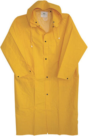 Boss Yellow PVC-Coated Rayon Raincoat XX-Large