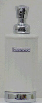 Interdesign York Tall Soap Dispenser 8.2 in. H x 3.5 in. L x 3.5 in. W White Chrome Steel