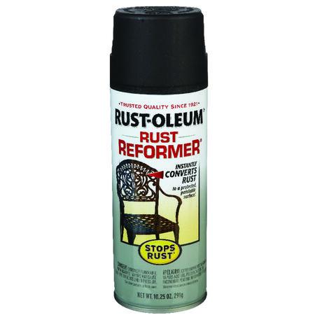 Rust-Oleum Interior/Exterior Rust Remover Spray Flat Black 10-1/4 oz.
