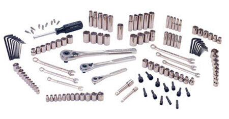 Craftsman Metric 137 pc. Steel 1/4 in. Drive Mechanics Tool Set