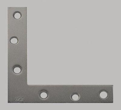 Ace Flat Corner Brace 6 in. x 1 in. Zinc