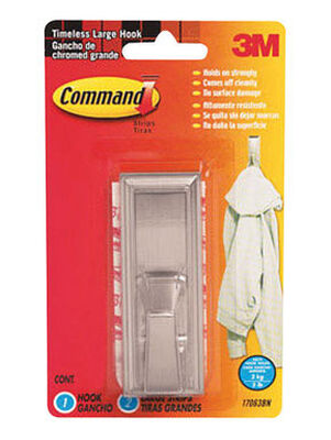 3M Command Large Timeless Hook 4 in. L Plastic 5 lb. 1 pk