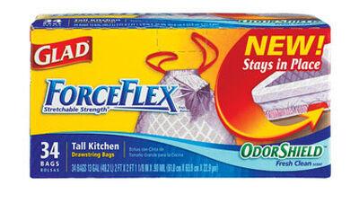 Glad ForceFlex 13 gal. Tall Kitchen Bags Drawstring 34 pk