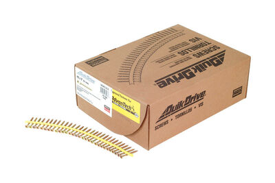 Simpson Strong-Tie Quick Drive Flat Wood Screw No. 8 x 2 in. L Yellow Zinc Steel 2000 box