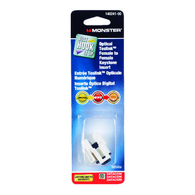Monster Cable Digital Optical Toslink Keystone Insert 1