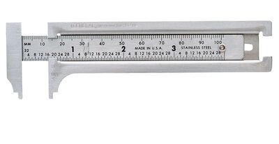 General Tools Slide Caliper 3 in. W x 8-13/16 in. L Stainless Steel