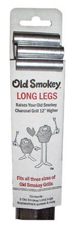 Old Smokey Steel Grill Legs 31 in. H x 3 in. W x 2 in. D 12 in.