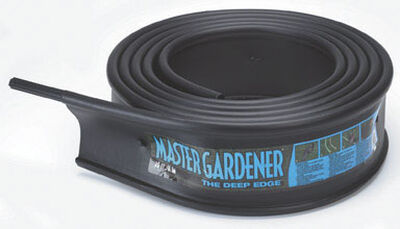 Master Mark 6 in. H x 20 ft. L Black Plastic Lawn Edging