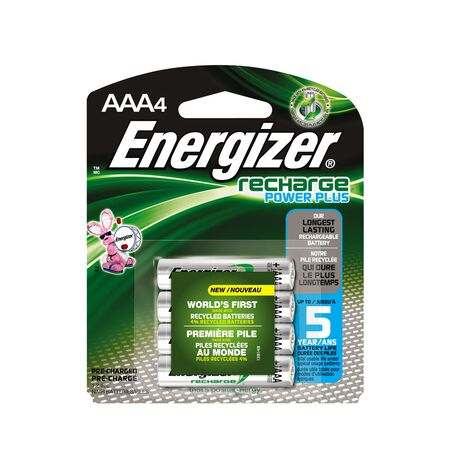 Energizer NiMH AAA 1.2 volts Rechargeable Batteries NH12BP4