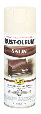 Rust-Oleum Stops Rust Shell White Satin Enamel Spray 12 oz.