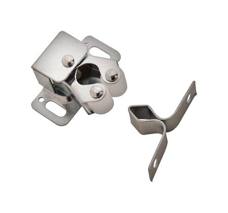 Amerock 1.1 in. W Zinc Steel Roller Catch