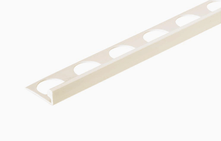 Bright White 3/8 in. PVC L-Shape Tile Edging Trim