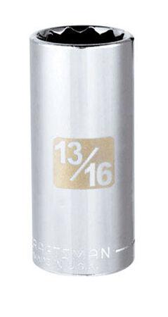 Craftsman 13/16 Alloy Steel 3/8 in. Drive in. drive Deep Socket