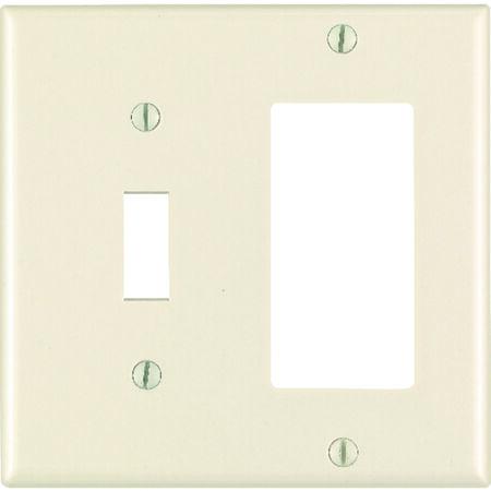 Leviton 2 gang Light Almond Nylon Toggle and Rocker/GFCI Wall Plate 1 pk