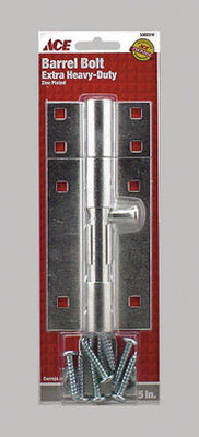 Ace Barrel Bolt 5 in. Zinc For Doors Chests and Cabinets