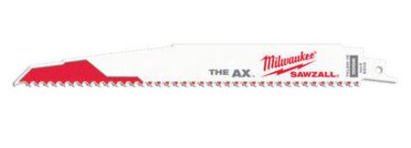 Milwaukee The AX 9 in. L 5 TPI Bi-Metal Sawzall Blade 5 pk