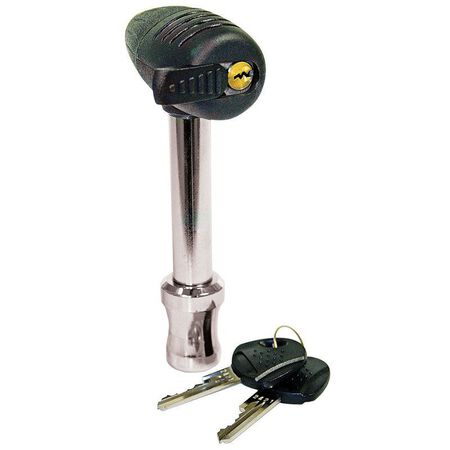 Reese Plastic Locking Receiver and Coupler Lock 7.5 L Silver/Black