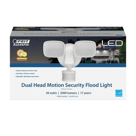 Feit Electric Motion-Sensing Hardwired LED White Security Floodlight