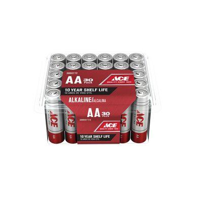Ace AA Alkaline Batteries 1.5 volts 30 pk