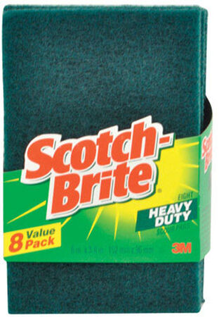 3M Scotch-Brite Scouring Pads 6 in. W x 3-13/16 in. L 8 pk