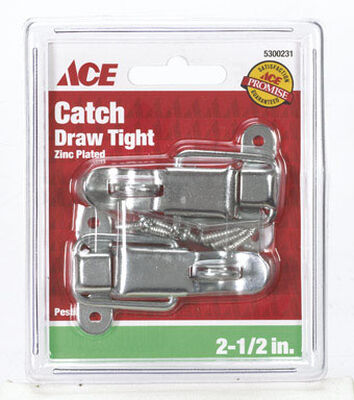 Ace Zinc Lockable Drawer Catch 2 pk