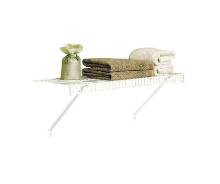Rubbermaid 36 in. L x 26 in. H x 12 in. W Linen Shelf Kit White