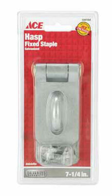 Ace Galvanized Steel Fixed Staple Safety Hasp 7-1/4 in. L