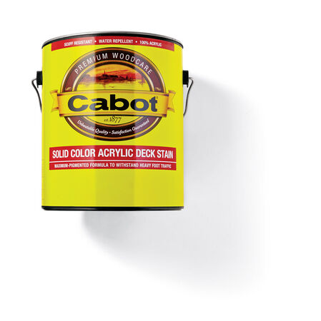 Cabot Solid Tintable 1806 Neutral Base Water-Based Acrylic Deck Stain 1 gal.