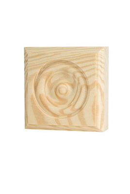Alexandria Moulding Casing Trim Block Pine 3-3/4 in. H x 3-3/4 in. W x 1 in. D