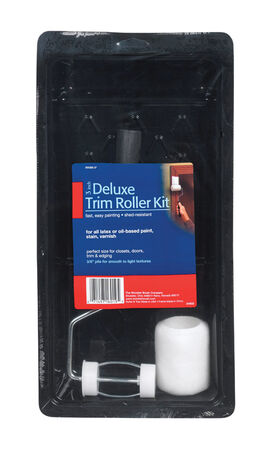 Wooster Trim Roller Kit Threaded End 3 in. W 3 pc.